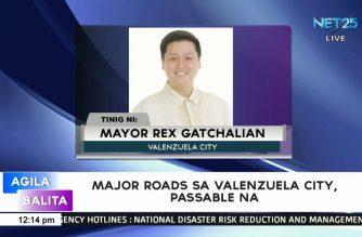 Major roads sa Valenzuela city, passable na – Valenzuela Mayor Gatchalian
