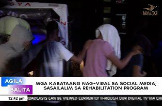 Mga kabataang nag-viral sa social media, sasailalim sa rehabilitation program