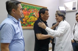 President Rodrigo Duterte met with Moro National Liberation Front chair Nur Misuari on Wedmesday, Aug. 22, Special Assistant to the President Bong Go said./Malacañang/