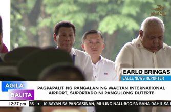 Renaming of Mactan Airport as Lapu-Lapu Int'l Airport supported by President Duterte