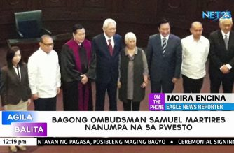 Samuel Martires takes his oath as new Ombudsman