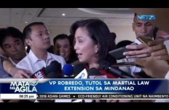VP Robredo, tutol sa martial law extension sa Mindanao