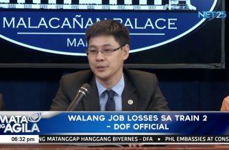 Walang job losses sa TRAIN 2, ayon sa DOF