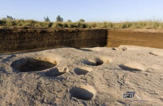 """A handout picture provided by the Egyptian Ministry of Antiquities on September 3, 2018, shows the new discovery site which is believed to be one of the oldest known villages on the Nile Delta. One of the oldest villages in the Nile Delta has been discovered after archaeologists unearthed artefacts dating to the fifth millenium BC, Egypt's antiquities ministry said. Remains of the village were uncovered by a French-Egyptian team at Tel Samara, in northeastern Egypt, the ministry said yesterday. / AFP PHOTO / Egyptian Ministry of Antiquities / Handout / XGTY / === RESTRICTED TO EDITORIAL USE - MANDATORY CREDIT """"AFP PHOTO / HO / EGYPTIAN MINISTRY OF ANTIQUITIES- NO MARKETING NO ADVERTISING CAMPAIGNS - DISTRIBUTED AS A SERVICE TO CLIENTS =="""