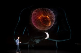 Apple COO Jeff Williams discusses Apple Watch Series 4 during an event on September 12, 2018, in Cupertino, California. The watch lets users take electrocardiogram readings. New iPhones set to be unveiled Wednesday offer Apple a chance for fresh momentum in a sputtering smartphone market as the California tech giant moves into new products and services to diversify.Apple was expected to introduce three new iPhone models at its media event at its Cupertino campus, notably seeking to strengthen its position in the premium smartphone market a year after launching its $1,000 iPhone X.  / AFP PHOTO / NOAH BERGER