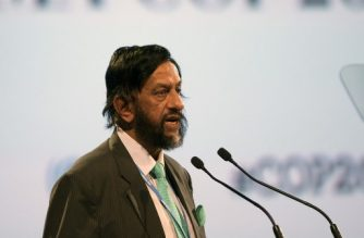 (FILES) In this file photo taken on December 11, 2014 Indian former UN climate panel chief Rajendra Pachauri speaks during a high level meeting at the UN COP20 and CMP10 climate change conferences in Lima. Former UN climate panel chief Rajendra Pachauri will stand trial in a sexual assault and harassment case three years after an employee accused him of inappropriate conduct, a lawyer said September 14, 2018.  / AFP PHOTO / EITAN ABRAMOVICH