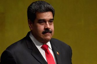 Venezuela's President Nicolas Maduro arrives to address the General Debate of the 73rd session of the General Assembly at the United Nations in New York on September 26, 2018.  / AFP PHOTO / Angela Weiss