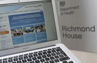 (File photo) This photograph, posed as an illustration on May 12, 2017, shows the website of the NHS: East and North Hertfordshire notifying users of a problem in its network taken outside the Department of Health in London.  The unprecedented global ransomware cyberattack has hit more than 200,000 victims in more than 150 countries, Europol executive director Rob Wainwright said May 14, 2017. Britain's state-run National Health Service was affected by the attack. / AFP PHOTO / Daniel LEAL-OLIVAS
