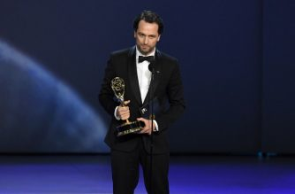LOS ANGELES, CA - SEPTEMBER 17: Matthew Rhys accepts the Outstanding Lead Actor in a Drama Series award for 'The Americans' onstage during the 70th Emmy Awards at Microsoft Theater on September 17, 2018 in Los Angeles, California.   Kevin Winter/Getty Images/AFP