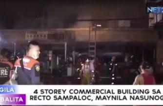 Commercial building sa Sampaloc, Maynila nasunog