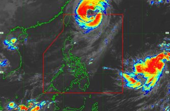 """""""Paeng"""" has exited the Philippine Area of Responsibility, the Philippine Atmospheric Geophysical and Astronomical Services Administration said on Saturday, Sept. 29./PAGASA/"""