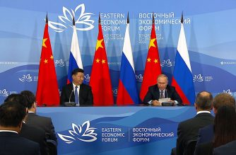 Russian President Vladimir Putin says Moscow and Beijing plan to use their own national currencies more often in trade deals as. Russia's relations with the West deteriorate. (Photo grabbed from AFP video/VGTRK)