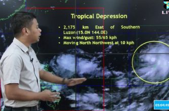 Chris Perez, senior weather specialist of the Philippine Atmospheric Geophysical and Astronomical Services Administration,  said on Friday, Sept. 21, that a tropical depression spotted off southern Luzon may enter the Philippine Area of Responsibility on Sunday, Sept. 23./PAGASA/