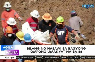 Bilang ng nasawi sa pananalasa ng bagyong Ompong, pumalo na sa 88