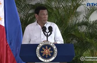 President Rodrigo Duterte speaking in Davao City airport shortly after his arrival from his successful trip to Israel and Jordan on Saturday, Sept. 8, 2018, a day earlier than scheduled.  (Photo grabbed from RTVM video)