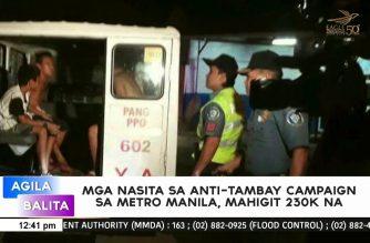 Mga nasita sa anti-tambay campaign sa Metro Manila, mahigit 230k na
