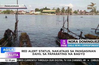 Red alert status, nakataas sa Pangasinan dahil sa paparating na bagyo
