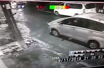 The vehicle Trillanes said was conducting surveillance of his house.