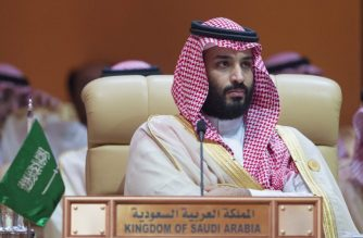 """A handout picture released by the Saudi Royal Palace on April 15, 2018 shows Crown Prince of Saudi Arabia Mohammed bin Salman Al-Saud attending the 29th Arab League Summit in Dhahran. (Photo by BANDAR AL-JALOUD / Saudi Royal Palace / AFP) / RESTRICTED TO EDITORIAL USE - MANDATORY CREDIT """"AFP PHOTO / SAUDI ROYAL PALACE / BANDAR AL-JALOUD"""" - NO MARKETING NO ADVERTISING CAMPAIGNS - DISTRIBUTED AS A SERVICE TO CLIENTS"""