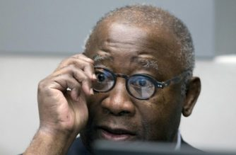 (FILES) This file photo taken on January 28, 2016 show former Ivory Coast president Laurent Gbagbo looking on before the start of his trial at the International Criminal Court in The Hague.    Laurent Gbagbo will ask on October 1, 2018 before the international justice to be acquitted of all crimes against humanity and released from prison, after spending seven years in detention. / AFP PHOTO / POOL / Peter Dejong / Netherlands OUT