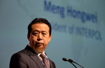 (FILES) In this file photo taken on July 4, 2017 Meng Hongwei, president of Interpol, gives an addresses at the opening of the Interpol World Congress in Singapore. An investigation into Meng Hongwei's disappearance was launched on October 5, 2018 according to a source close to the case. Meng Hongwei had not been heard since travelling to China at the end of September.  / AFP PHOTO / ROSLAN RAHMAN