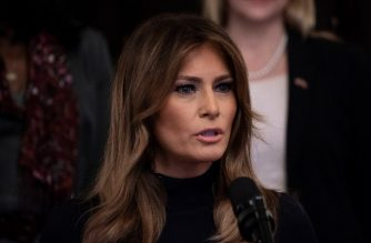 US First Lady Melania Trump speaks during an event on a year of progress and action to combat the opioid crisis, in the East Room of the White House on October 24, 2018 in Washington, DC. (Photo by Brendan Smialowski / AFP)