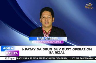 6 na drug suspek patay sa drug buy-bust operation sa Rizal