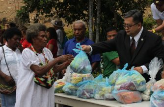 The Iglesia Ni Cristo (Church Of Christ) holds Aid to Humanity (Lingap sa Mamamayan) program in Port Moresby, Papua New Guinea, as part of its efforts to help people.   (Eagle News Service)