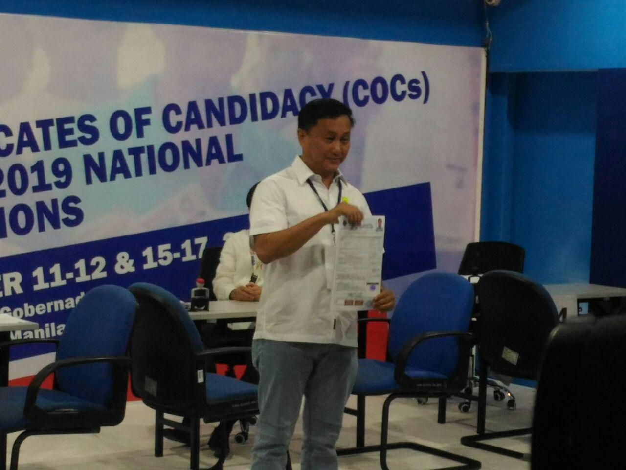 Noted gov't personalities beat deadline for COC filing for 2019 senate race
