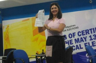 Former senator Pia Cayetano files her certificate of candidacy (COC) as a senatorial bet for the May 2019 elections with the COmmission on Elections office in Manila on Tuesday, October 16, 2019.  (Photo by Jerold Tagbo, Eagle News Service)
