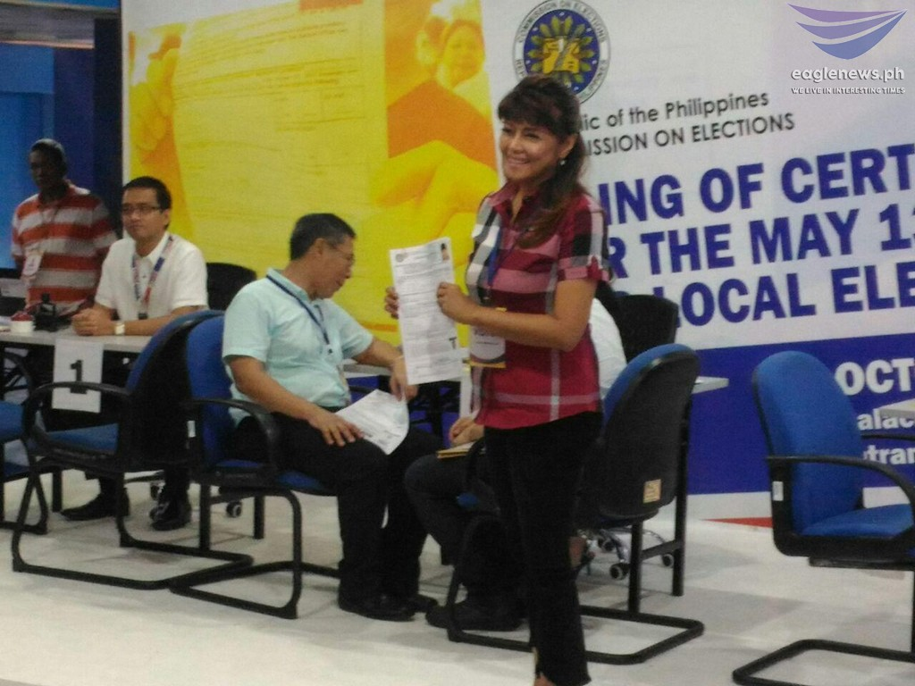 Ilocos Norte Gov. Imee Marcos files her CoC for senatorial race
