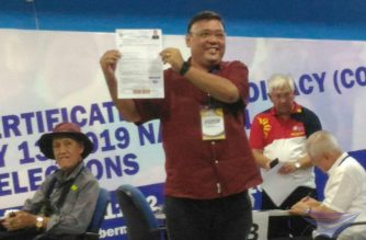 Former Presidential Spokesperson Harry Roque decides to run as a senatorial candidate for the May 2019 elections when he filed his certificate of candidacy on Wednesday, Oct. 17, 2018, which is the last day for filing of COCs set by the Commission on Elections.  (Photos by Jerold Tagbo, Eagle News Service)