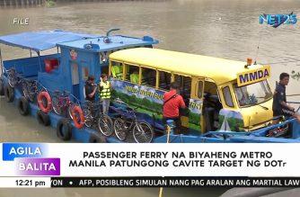 DOTr target ang paglulunsad ng passenger ferry na biyaheng Metro Manila patungong Cavite