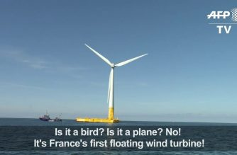 France installs its first floating wind turbine