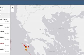 The United States Geological Survey records a 6.8 magnitude quake and several other aftershocks in Greece on Friday, Oct. 26, 2018.     (Photo grabbed from USGS website)