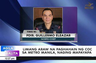 Limang araw na paghahain ng COC sa Metro Manila, naging mapayapa – NCRPO
