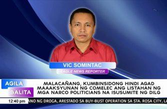 Malacañang, kumbinsidong hindi agad maaaksyunan ng Comelec ang listahan ng narco-politicians na isusumite ng DILG