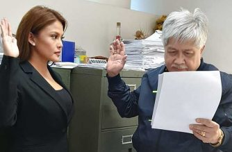 Gretchen Fullido files sexual harassment and libel charges against former and current ABSCBN executives before the Quezon City Prosecutors Office./Marvin Aceron FB/