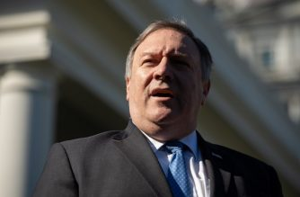 """(FILES) In this file photo taken on October 18, 2018 US Secretary of State Mike Pompeo speaks to the press about his trip to Saudi Arabia after meeting with US President Donald Trump in the West Wing of the White House in Washington, DC. - The United States will exempt China, India and Japan from oil sanctions on Iran, Secretary of State Mike Pompeo said November 5, 2018, while vowing to be """"relentless"""" in pressuring Tehran. Pompeo listed eight countries that will enjoy temporary waivers from a ban on all oil transactions with Iran: China, India, Italy, Greece, Japan, South Korea, Taiwan and Turkey. (Photo by SAUL LOEB / AFP)"""