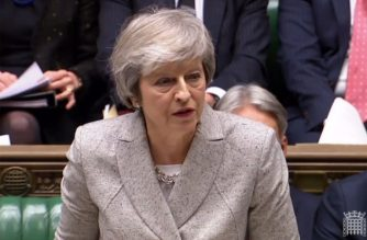 """A video grab from footage broadcast by the UK Parliament's Parliamentary Recording Unit (PRU) shows Britain's Prime Minister Theresa May giving a statement to the House of Commons in London on November 22, 2018, on the draft declaration, laying out plans for future relations with the European Union. - The EU and Britain on Thursday agreed a draft declaration laying out plans for """"ambitious, broad, deep and flexible"""" relations after Brexit, setting the stage for the divorce to be finalised at a weekend summit. Britain's embattled Prime Minister Theresa May hopes the declaration will convince sceptical lawmakers to approve her vision for the UK's departure from the bloc. (Photo by HO / PRU / AFP) / RESTRICTED TO EDITORIAL USE - NO USE FOR ENTERTAINMENT, SATIRICAL, ADVERTISING PURPOSES - MANDATORY CREDIT """" AFP PHOTO / PRU """""""