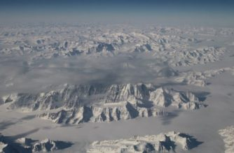 FILES: This NASA handout photo obtained March 29, 2016 shows a stunning perspective of the northeast coastline of Greenland, one of the world's two great ice sheets (the other is Antarctica), captured by the Oceans Melting Greenland (OMG) field campaign team flying NASA's G-III aircraft at about 40,000 feet on March 26. - The OMG team is now just a few flights away from mapping glacier heights around the entire coast of Greenland. These measurements will form the baseline of this first-of-its-kind experiment, clarifying the picture of how Greenland's glaciers are responding at a time when many signs point to accelerating change. OMG will pave the way for improved estimates of sea level rise by investigating the extent to which the oceans are melting Greenland's ice. OMG will observe changing water temperatures and glaciers that reach the ocean around all of Greenland from 2015 to 2020. (Photo by Handout / NASA / AFP)