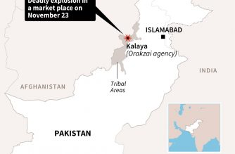 Map of Pakistan showing Kalaya where nine people were killed and 27 wounded in a blast that ripped through a marketplace on Friday.