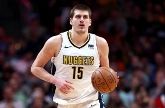DENVER, CO - APRIL 03: Nikola Jokic #15 of the Denver Nuggets brings the ball down the court against the Indiana Pacers at the Pepsi Center on April 3, 2018 in Denver, Colorado. NOTE TO USER: User expressly acknowledges and agrees that, by downloading and or using this photograph, User is consenting to the terms and conditions of the Getty Images License Agreement.   Matthew Stockman/Getty Images/AFP