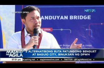 2 alternatibong ruta patungong Benguet at Baguio City, binuksan ng DPWH