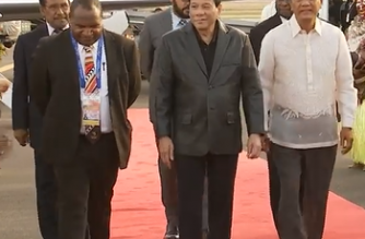 President Rodrigo Duterte arrived in Papua New Guinea on Friday, Nov. 16, to attend the Asia-Pacific Economic Cooperation Economic Leaders Meeting this weekend./PCOO/