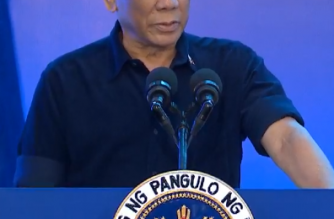 President Rodrigo Duterte leads the  inauguration of the Cavite Gateway Terminal (CGT), the country's first container barge port, in Tanza, Cavite on Thursday, November 22./PCOO/.