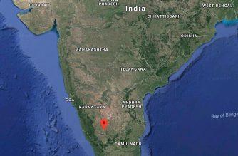 Google satellite map of India.  (Courtesy Google map)
