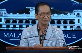 Presidential Spokesperson Salvador Panelo during Monday's (Nov. 5 ) press briefing in Malacanang
