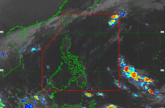 """Tropical Depression """"Tomas"""" has weakened into a low pressure area, the Philippine Atmospheric Geophysical and Astronomical Services Administration said./PAGASA/"""