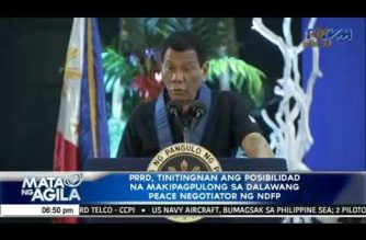 Duterte: Jalandoni, Agcaoili requested meeting with me in PHL